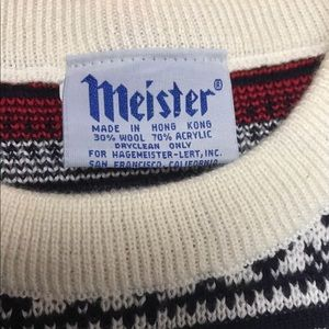 meister Sweaters - Meister ski wool Blend sweater minor stains small